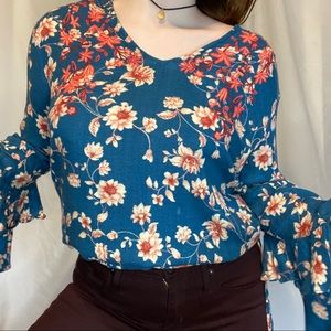 JESSICA SIMPSON Women's Embroidered Floral Blouse